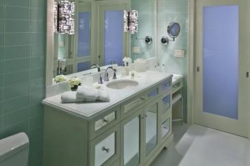 Light green bathroom remodeling in Key Largo
