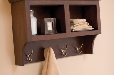 Bathroom organizer in wood