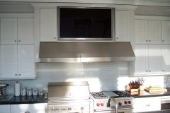 Summer kitchens outdoors with TV and grill