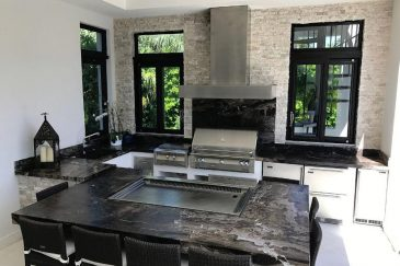 Outdoor cabinets for summer kitchens in Coral Gables, FL