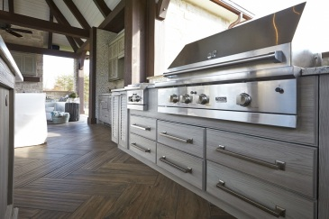 Outdoor cabinets with propane grill in Kendall, FL home