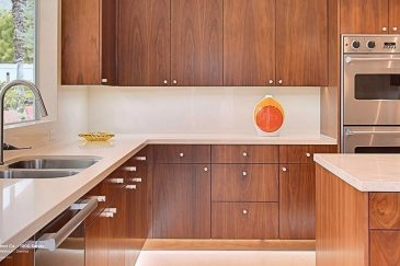Custom kitchen cabinets in Coral Gables home
