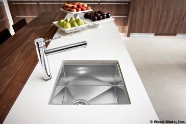 Kitchen design sink closeup in Kendall