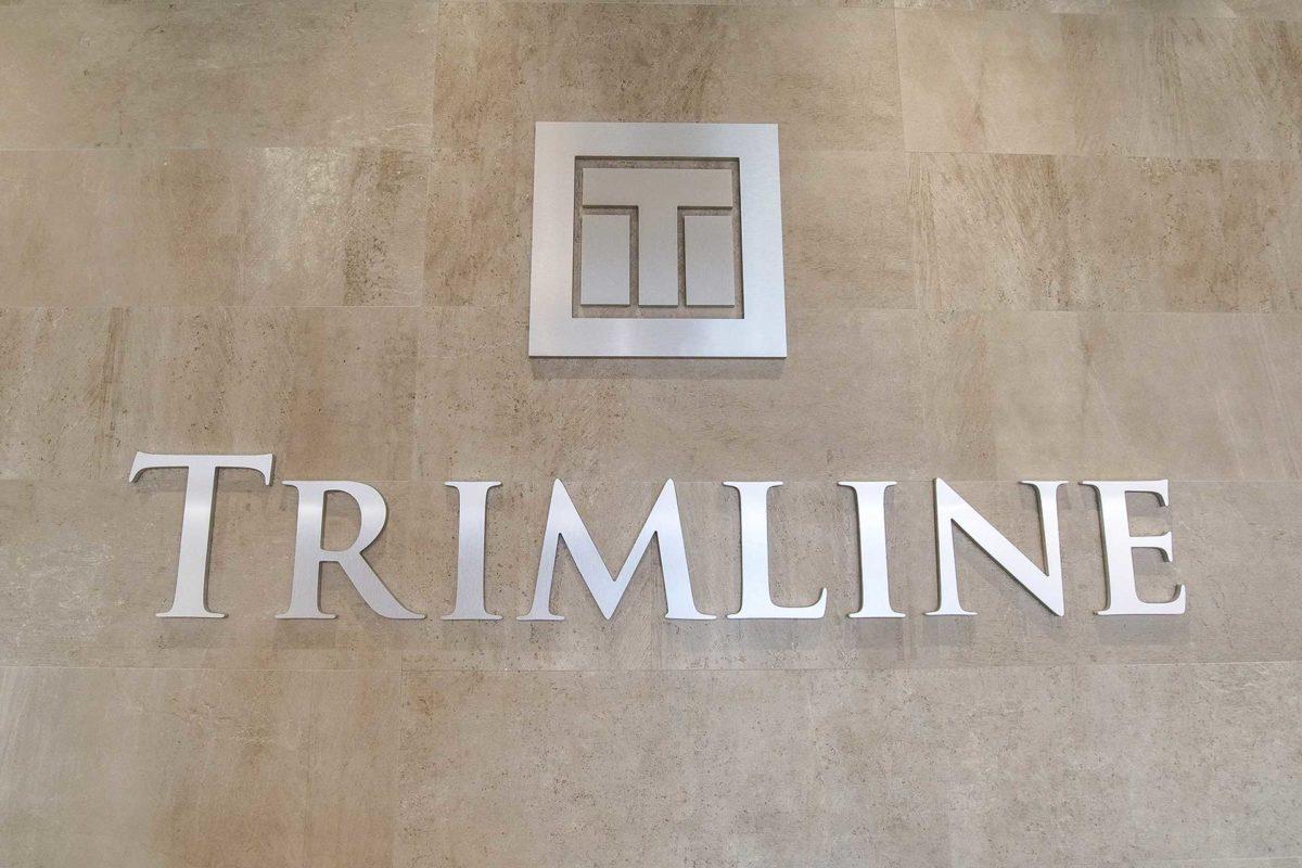 Trimline logo on building